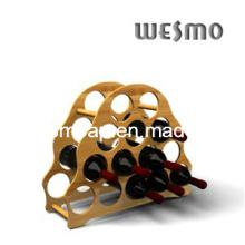 Bouteille de vin haut de gamme Porte-étagère en bambou