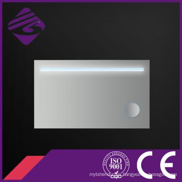 Jnh190 China Proveedor Saso Rectángulo Magnifying LED espejo de maquillaje