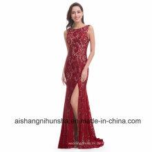 Meerjungfrau Abendkleid lange sexy ärmellose Spitze Abendkleid Kleid