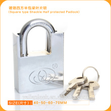 2015 Europe Market Good Quality Square Type Shackle Half Protected Padlock