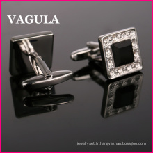 Boutons de manchettes VAGULA qualité Crystal Silver (HL10162)