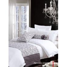100% хлопок или поли / хлопок Комплект постельного белья для гостиничного использования