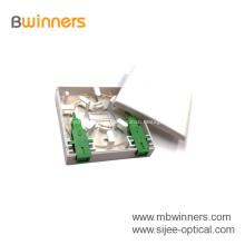 Mini Indoor Wall Mounted 2 Port 86 Fiber Socket Face Plate FTTH Fiber Optic Wall fiber wall outlet