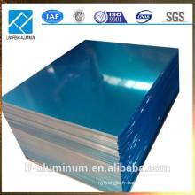 AA1100 / AA1060 Epaisseur mince en aluminium avec film en PVC bleu recouvert