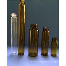 10ml Tubular Amber Mini Glass Vial for Cosmetic Packing