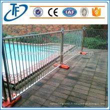 Vente directe d'usine clôture de piscine temporaire galvanisée de haute qualité
