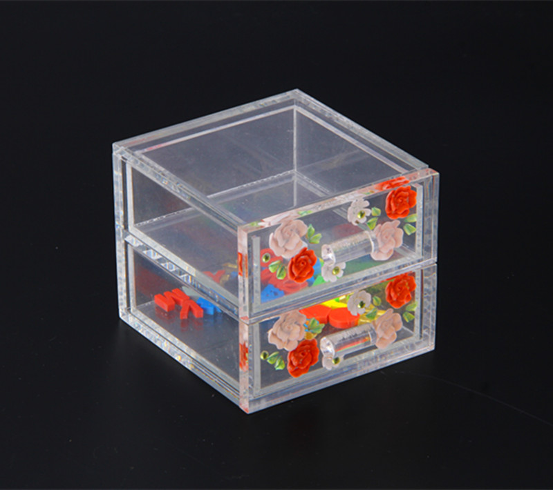 Acrylic Storage Box with Drawers