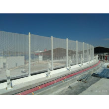 High Security Clear Vu View Mesh Fence Panels / 358 Anti Climb Fence / Prison Fencing