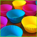 Mini Silikon dekorative Cupcake Wrapper Set 12 Stk