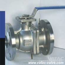 Mounting Pad Top Plate Casting Steel 2 Pieces Split Type Wcb Ball Valve