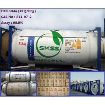 Bon prix du gaz réfrigérant de haute qualité R134a hfc-R134a Cylindre non remplissable 500g de HUAFU