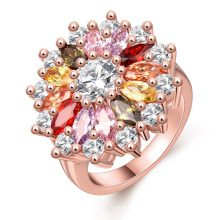 Color Gemstone Rings Silver Wedding Ring Jewellery