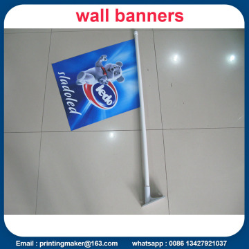 Custom Wall Mounted Shop Frente Bandeiras Com Pole