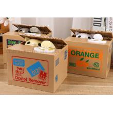 OEM Creative Electric Plastic Saving Box Money Box with Cat Steal Money