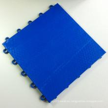 Interlocking Sports Flooring Tiles PP Flat Sea Blue