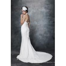 Vestido de boda del cordón del cuello del halter magnífico del VESTIDO AS29102