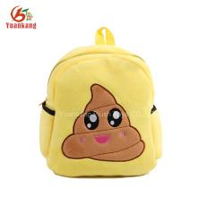 Dongguan fábrica personalizada 2016 Nuevo regalo mochila emoji para niños