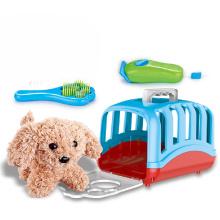 Children Pretend Play Pet Set Plush Dog House Toys Set For Kids