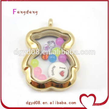 floating lockets pendants gold plated jewelry