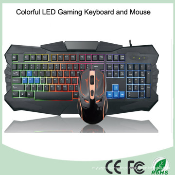 Teclados de LED de alto brilho com cores mais vendidas Teclado de jogos de computador (KB-903EL-C)
