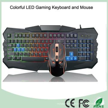 Лучшие продажи цветной светодиодной подсветки компьютерной игровой клавиатуры (KB-903EL-C)