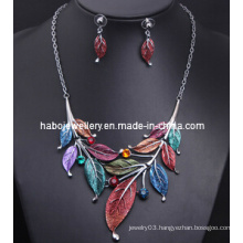 Square Stone Enamel Chain Jewelry Set (XJW13215)