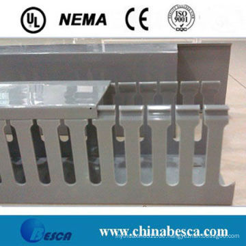 Weiß / Grau geschlitzte PVC-Kabelkanal (UL, IEC, SGS und CE)