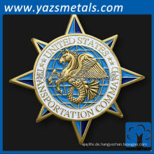 fertigen Metall Münzen, benutzerdefinierte gemeinsame militärische Transport Befehl Herausforderung Münze