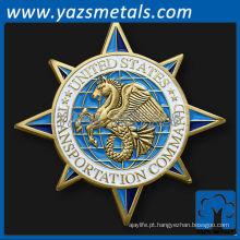personalizar moedas de metal, costume Moeda de desafio de comando de transporte militar comum