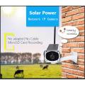 Солнечная батарея на открытом воздухе Беспроводная солнечная энергия IP-камера безопасности
