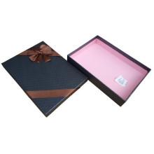 Cajas de cartón negro para camisas de embalaje con lazo