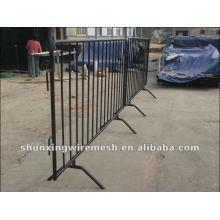 Schwarz Beweglicher PVC-Zaun