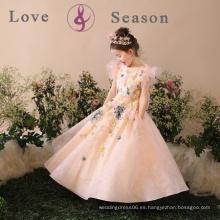 Vestido occidental del vestido del partido de la muchacha de los vestidos de los niños del vestido de las muchachas simples del diseño XXLF204
