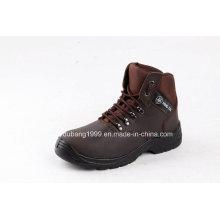 2015 China Sport Safety Shoes com couro de boa qualidade