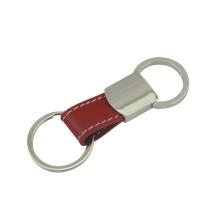 Подгонянная функция Вытягивает вне кожаный ключевой держатель с Keyring (F3062)