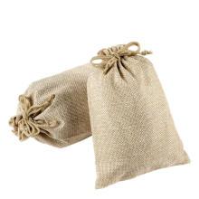 Stylish nature jute drawstring burlap bags wholesale