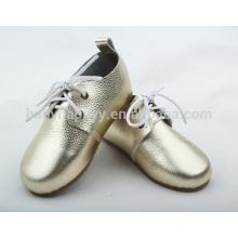 Moda feminina Oxford sapatos com sapatos de borracha para bebês
