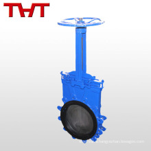 Manual rubber seat cast iron knife gate valve