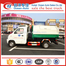 FAW small hook arm garbage truck for sale