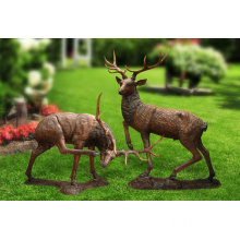 Garden Life Size Bronze Elk Statue For Sale