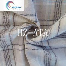 100% fio de algodão tingido 32X32 tecido de flanela