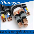 sector shaped conductor four core PVC electrical cable