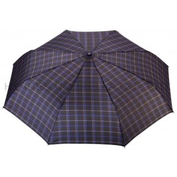 Navy Check Print 3 vikande paraply