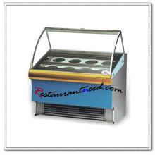 R055 buffet vitrine en acier inoxydable crème glacée