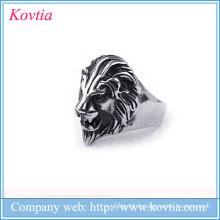Populaires 2016 hommes lion anneau titane anneaux de lion d'acier pour les hommes