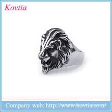 popular 2016 men lion ring titanium steel lion rings for men