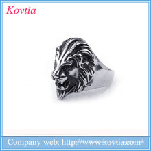 Popular 2016 homens leão anel titânio aço leão anéis para homens
