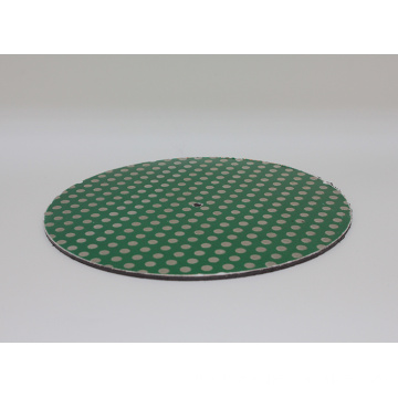 12inch Diamond Lapidary Glass Ceramic Porcelain Magnetic Dot Pattern Grinding Disk Lap Flat