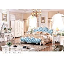 Французская Спальные гарнитуры, вид размер Европе стиль кровать (6021)