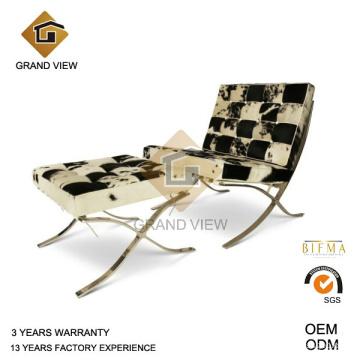 Chaise de Barcelone loisirs poney en cuir (GV-BC01)